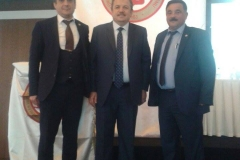 Türkiye Berberler ve Kuaförler Federasyonu Genel Başkanı Bayram KARAKAŞ ve Muğla Berberler ve Kuaförler Odası Başkanı Özcan ÇOLAKKOL