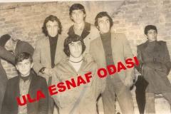 7 Şubat 1974 Perşembe Günü Ula'da Bir Baloda Çekilen Hatıra Fotoğrafı Soldan Saga Doğru Kadir Kasap, Ali Arslan, Hulisi Tabak, Ali Demirbaş, Yusuf Tabaka