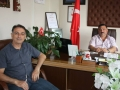 Başkan Kemal Özçelik'in Ustası Süleyman Hava'nın Oğlu Dr. Hüseyin Tamer HAVA (Hava Yarbay) Başkan Kemal Özçelik'i Makamında Ziyarette Bulundu. 10.06.2015