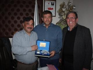 Marmaris Deniz Ticaret Odası Başkanı Hasan MENGİ ve Astaş Taş Dekarasyon İşletme Sahibi Ali ÇATALAK