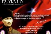19 Mayıs Atatürk' ü Anma Gençlik ve Spor Bayramımız Kutlu Olsun